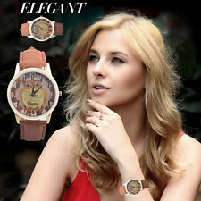Retro Women Mens Owl Watches Quartz Stainless Steel Analog Sport New Wrist Watch
