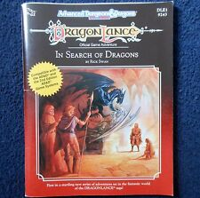 DLE1 Dragonlance In Search of Dragons Adventure Module Dungeon and AD&D TSR 9243