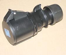PCE CEE-Kupplung Shark 32A 230V schwarzes Gehäuse 3-polig blau IP44 223-6X NEU