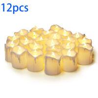 12pcs Flameless Candle Light LED Tealight Lamp Wedding Birthday Party Home Decor