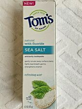 TOMS OF MAINE Sea Salt Natural Toothpaste Refreshing Mint 4.7 oz NEW sealed 2/21