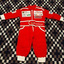F1 Michael Schumacher Collection Embroidered Patches Full Race Suit Kids XS Red