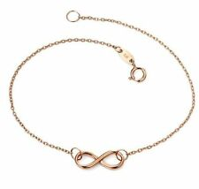 "Rose Gold 7 - 7.49"" Precious Metal Bracelets without Stones"