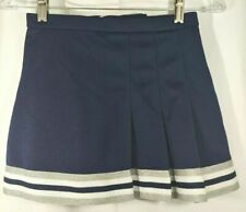 Real Authentic GTM Cheerleading Uniform Cheer Skirt Navy Blue Silver White YL