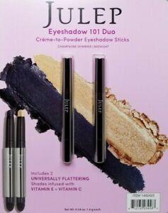 JULEP Creme to Powder Eyeshadow 101 Stick Duo 2 Pack - CHAMPAGNE + MIDNIGHT