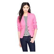 J Crew $249 Schoolboy Blazer Linen Lined Pink Women's Size 2