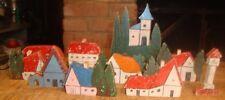 German Wood Toy Christmas Ornament Putz Tree Model Railroad Vintage Village Old