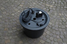 PE-Becken 45 cm inkl. Pumpe und Gfk Abdeckung, Brunnen, Wasserspiel, Quellstein