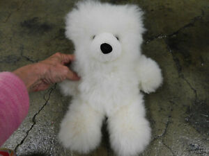 "Alpaca Teddy Bear Off White SO SOFT 13"" Plush Stuffed Animal Toy Clean & SWEET!"