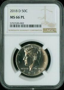 2018 D Kennedy Half Dollar NGC MS 66PL *S