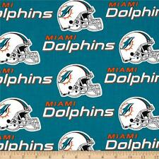 """NFL MIAMI DOLPHINS FOOTBALL CURTAIN SET  58"""" WIDE X 63""""LONG"""