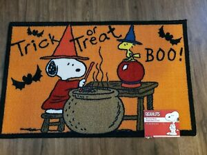Snoopy Woodstock Witch Halloween Rug Peanuts Accent Mat 17x28 Lightweight