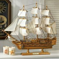 Wooden Ship HMS VICTORY Model Sailboat Boat Nautical sailing Statue Ocean Object