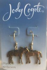 Jody Coyote Earrings JC0666 new made USA 1099 horse 14 kt karat gold plated