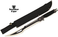 Snake Eye Tactical Full Tang Double Serrated Fantasy Sword w/ Sheath