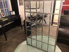 Howard Elliott Superior Hanging Rectangular Window Wall Mirror, Accent, Bronze,