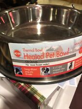 K&H Pet Products Stainless Steel Heated Water Bowl 102 oz  - 25 Watts (5.5' C...