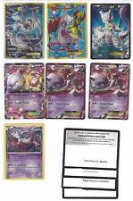 Pokemon Mewtwo EX Lot x 7 Secret Rare Full Art Holo Promo w/ Codes NM 102