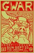 Gwar Kozik POSTER Agony Column Signed Texas Early 1990 Concert