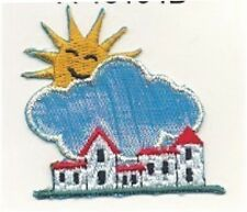 Fairy Tale Sunny Cloud Town Embroidery Applique Patch