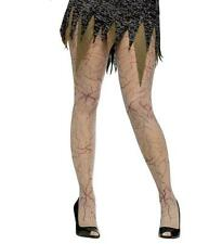 VEINED ZOMBIE MONSTER TIGHTS LADIES HALLOWEEN DEAD Fancy Dress Costume Hosiery