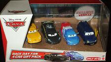 Disney Pixar CARS ~ CLUTCH FOSTER ~ Race Day Fan 4-Car Gift Pack MATTEL DieCast