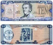 LIBERIA 10 DOLLARS 2011 UNC P 27