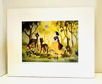 "VTG Disney Snow White & The Seven Dwarfs Bruce McGaw Graphics 11""x14"" Print"