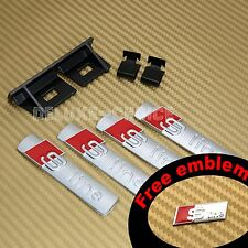Silver Metal Emblem Badge Front Grill Mount bracket A3 A4 A5 S4 TT AUDI S LINE