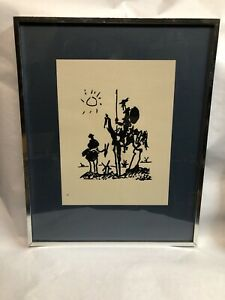 DON QUIXOTE 1955 VINTAGE FRAMED ART LITHO PRINT BY PABLO PICASSO
