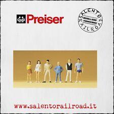 PREISER 14003 SET PERSONAGGI: Ragazzi e ragazze in piedi - 1/87