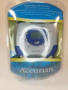 Accurian Portable CD Player 42-6052 w/ Headphones & Car Adaptor New Open Box