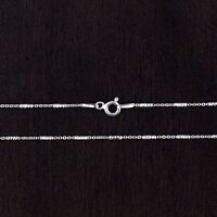 Solid 925 Sterling Silver Diamond-Cut  Chain Italy 1mm
