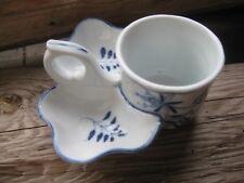 SELTEN Alte Menage Senf Salz Pfeffer Zwiebelmuster blau weiß Porzellan antik