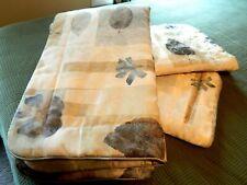 Croscill Spa Leaf King Pillow Shams NWOT
