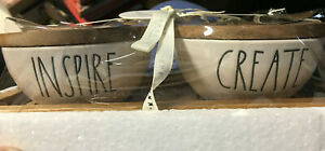 Rae Dunn Create and Inspire Set Of 2 Pinch Bowls GREAT FOR TEACHERS