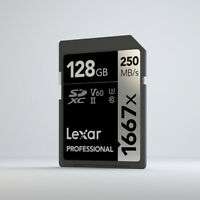Lexar PROFESSIONAL 1667x SD 32GB 64GB 128GB 150MB/s 4K V60 UHS-II SDHC SDXC Card