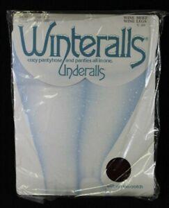 Vintage Winteralls Underalls Hanes Pantyhose Wine Size A B Style 380