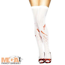 Ladies Blood Stained Stockings Halloween Ladies Fancy Dress Costume Accessory
