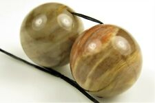 Unique ~ Beautiful Petrified Wood Large Round Bead ~ 16mm ~ 2 beads ~  8220A