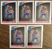 2018-19 Panino Donruss Optic Shai Gilgeous-Alexander Rookie RC #162 5 Card Lot