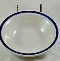 """Gibson Serving Bowl White with Blue Trim - 10 1/2"""""""