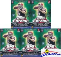 (5) 2014 Topps Chrome Football EXCLUSIVE Factory Sealed Blaster Box-5 RELICS