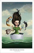 WITCH OF PUNGO pop surrealism PRINT/POSTER painting virginia salem trials wiccan