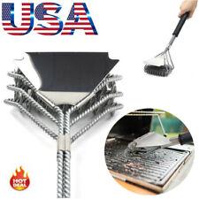 Bristle Free 3-in-1 BBQ Grill Brush Scraper Cleaner Set - Grill Accessories Tool
