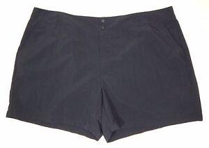 Eddie Bauer Shorts Womens 24 Black Nylon Quick Dry