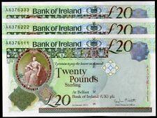 Bank of Ireland Northern Irish First Run Banknotes