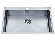 NEW 820mm Piato Inset Single Bowl Satin Finish Kitchen Sink
