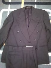 HUGO BOSS SUIT ITALY DOUBLE BREASTED 38S EUC