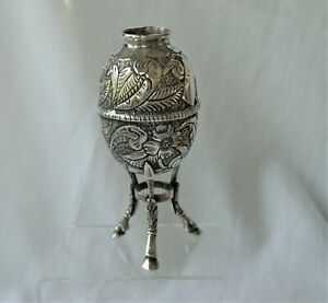 Antique Argentina 800 German Silver Gaucho Yerba Mate Cup / Very Old